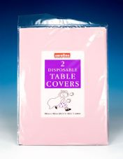 Caroline Square Paper Tablecovers - 90cm Pink